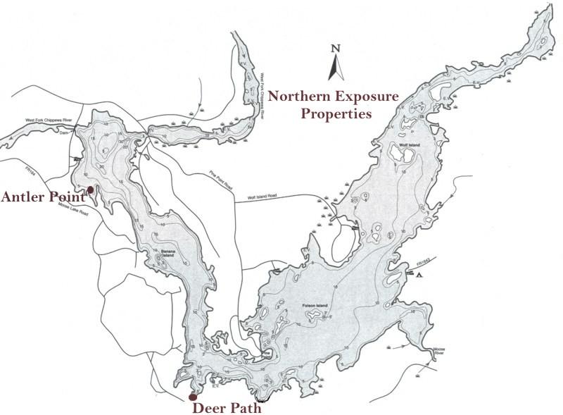 Moose Lake map
